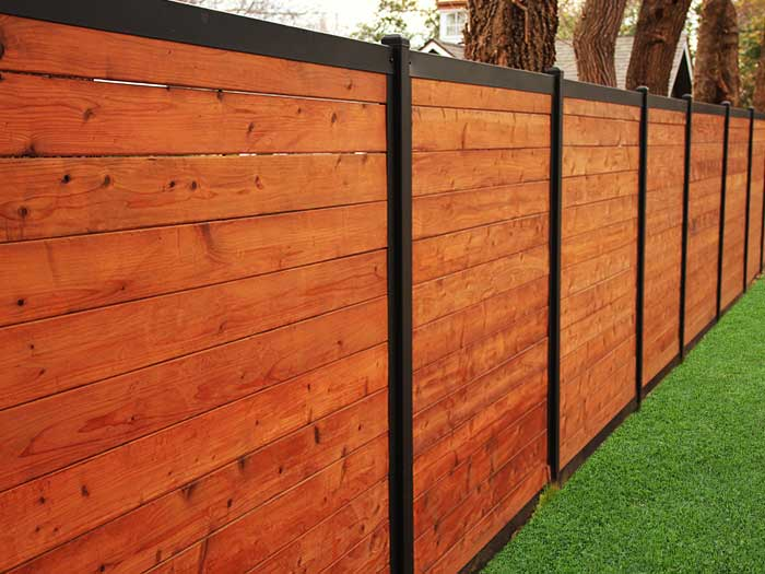 Modern Fence Systems Metal Frame Any Infill