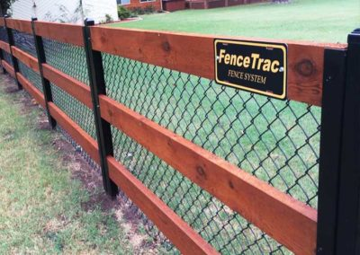 Ranch Rail Fence Chain Link