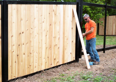 FenceTrac Privacy Fence Installation