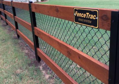 FenceTrac With Rails & Chainlink
