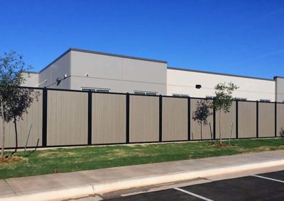 Commercial Privacy Perimeter Fence