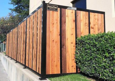 FenceTrac Wood Fence With Metal Posts