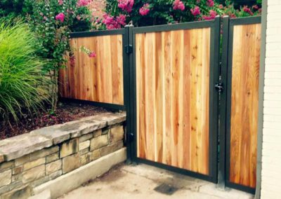 Privacy Fence Gate With Metal Frame