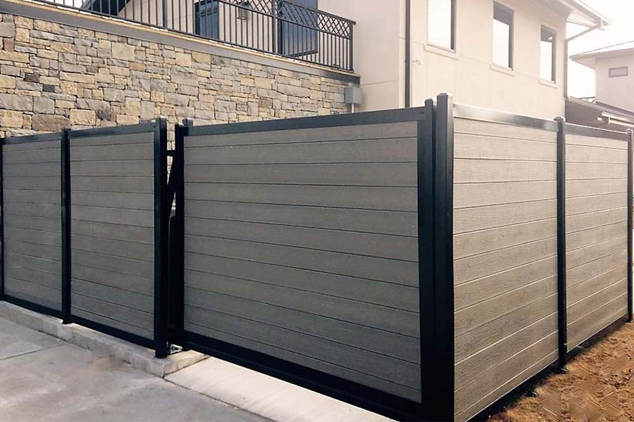 FenceTrac Dumpster Enclosure Composite & Metal Frame