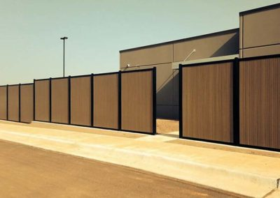 Commercial Security Privacy Fence Composite & Metal