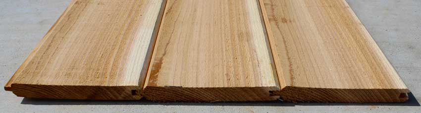 Red Cedar Tongue & Groove Fence Pickets