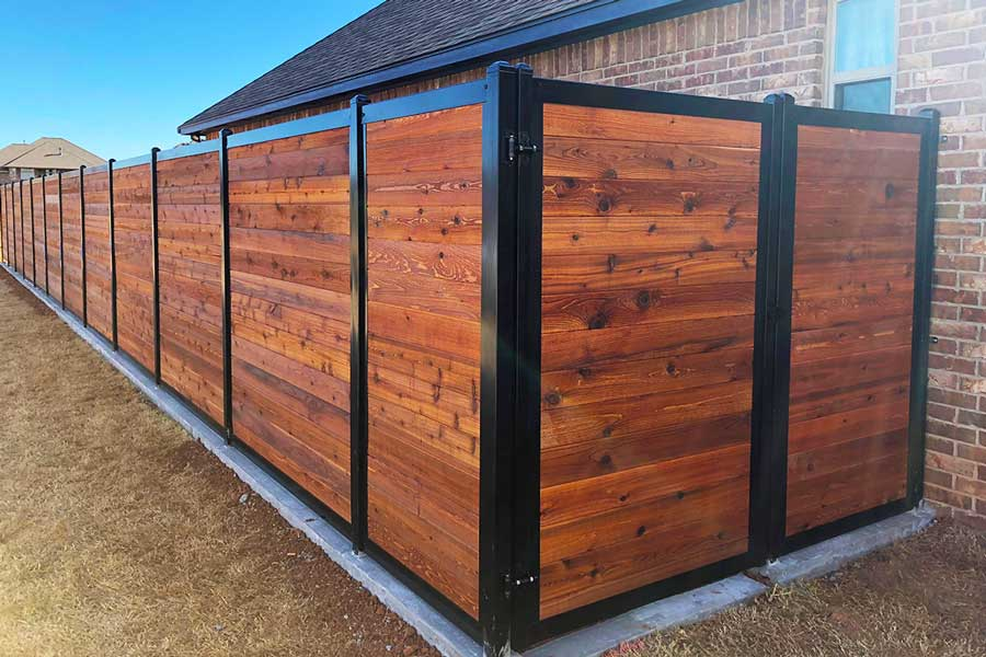 Beautiful Horizontal Privacy Fence