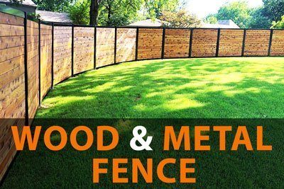 Wood & Metal Fence