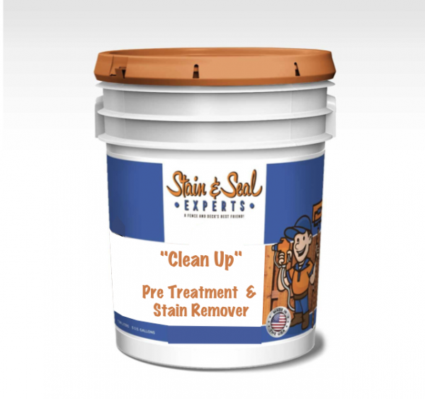 Stain & Seal Fence Stain Clean Up