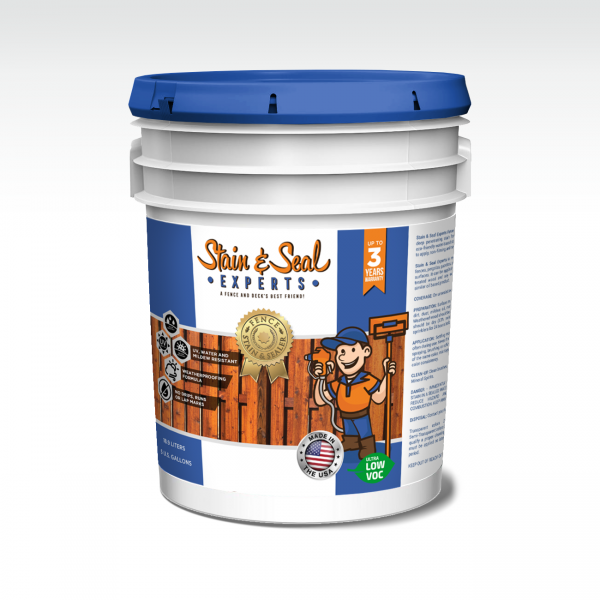 Semi Transparent Stain & Seal 5 Gallons