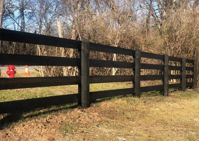 Black Fence Stain