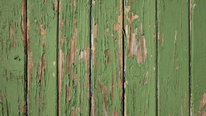 Painted Fence Peeling Paint