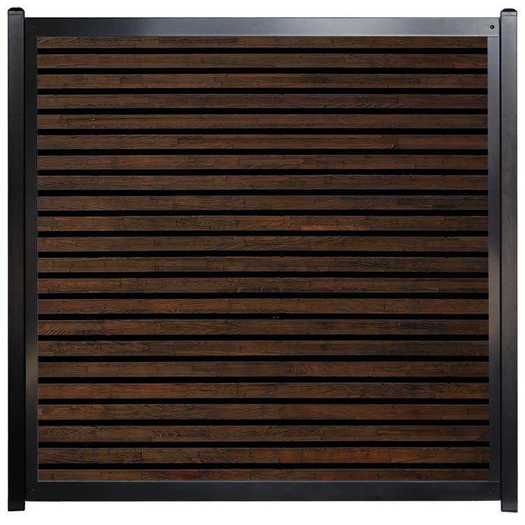 Custom Fence Designs - Dark Wood Slats