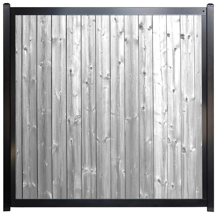 Commercial Architectural Fence Gray Wood