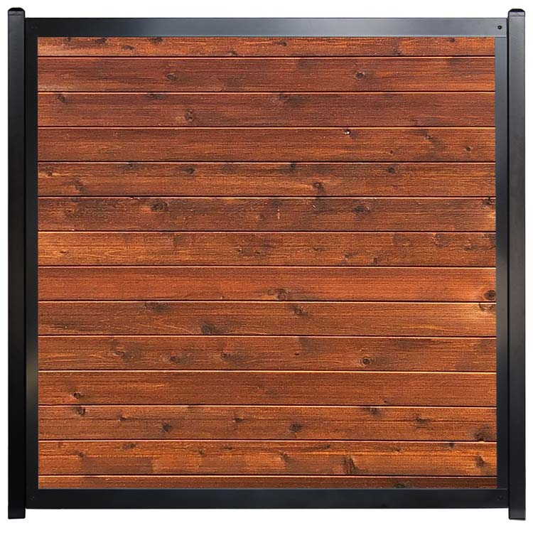 Commercial Architectural Fence Horizontal Wood