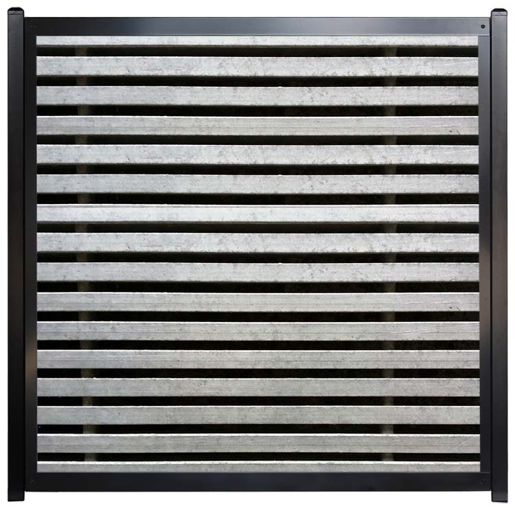 Unique Horizontal Fence Designs - Metal Slats