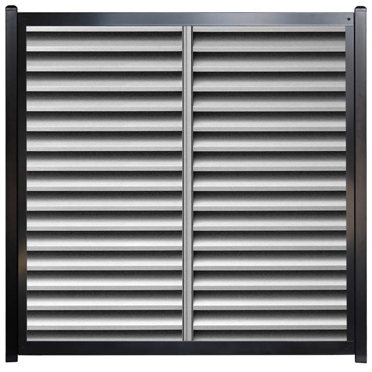 Unique Horizontal Fence Designs - Metal Vent Louvers