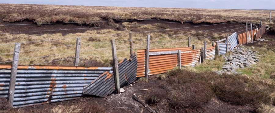 Corrugated Metal Fence Panels on Farm