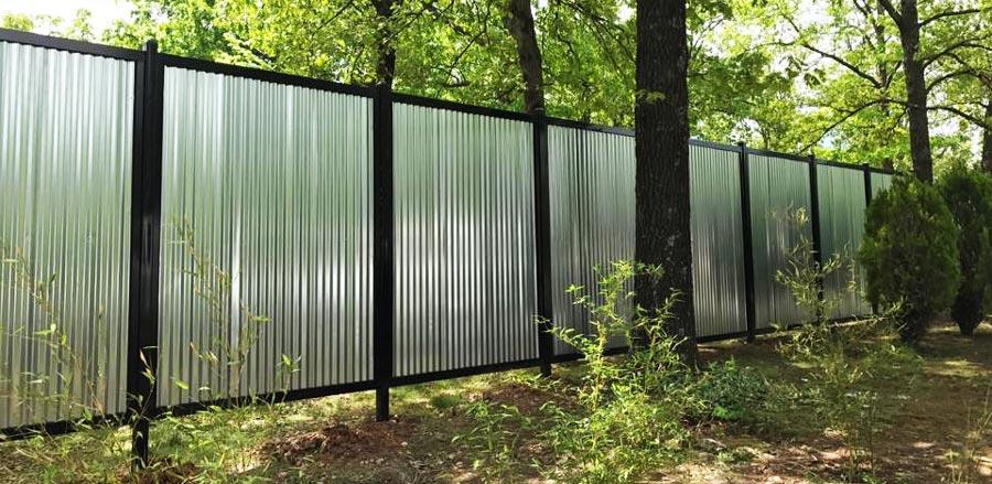 Corrugated Metal Fence Steel Frame