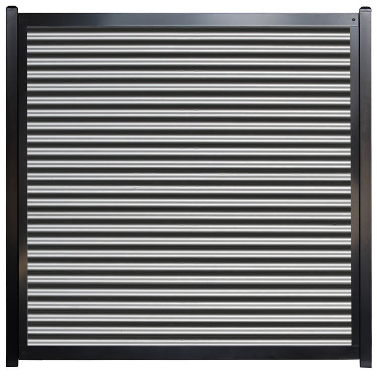 Corrugated Metal Fence Panel - Horizontal