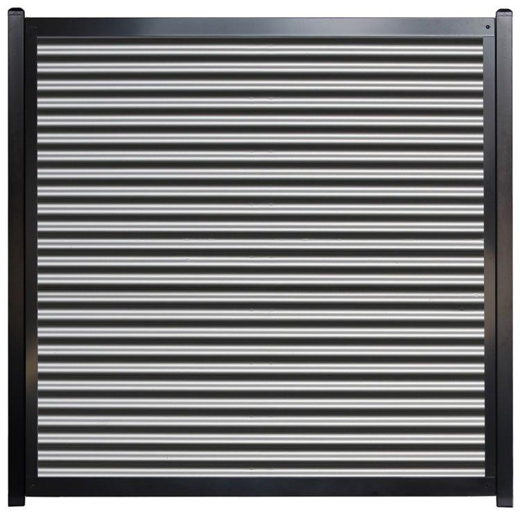 Corrugated Metal Fence Panel - Horizontal