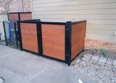 Wood Metal Utility Enclosure