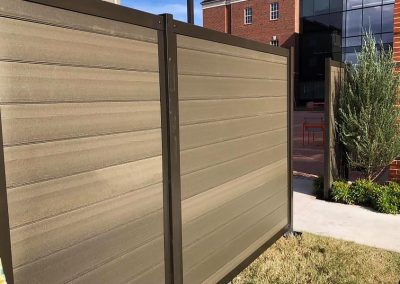 Commercial Privacy Fence - Horizontal Composite and Metal