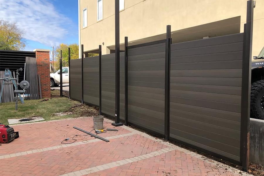 Horizontal Fence Under Construction