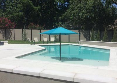 Horizontal Pool Fence With Metal Frame