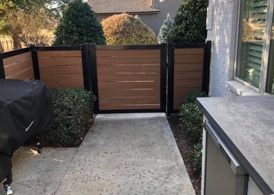 Horizontal Wood Slat Metal Fence Gate
