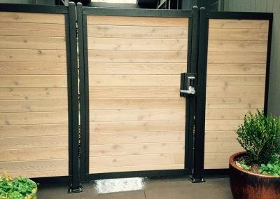 Horizontal Wood Metal Fence Gate