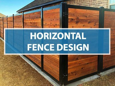 Modern Horizontal Fence Design