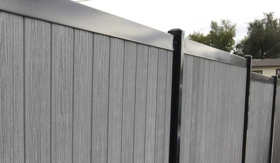 Metal Fence Posts Composite Pickets