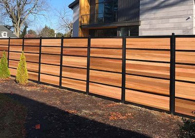 Custom Horizontal Fence Design