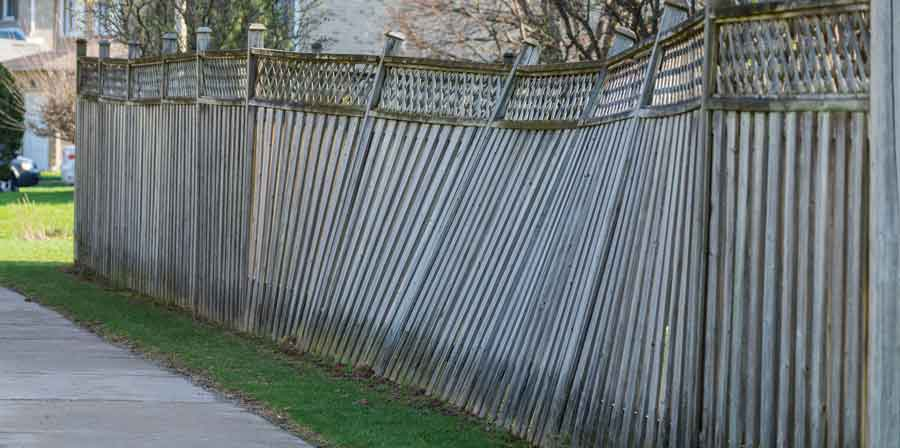 Leaning Privacy Fence