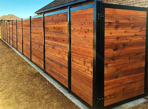 Stained Fence Cedar Color