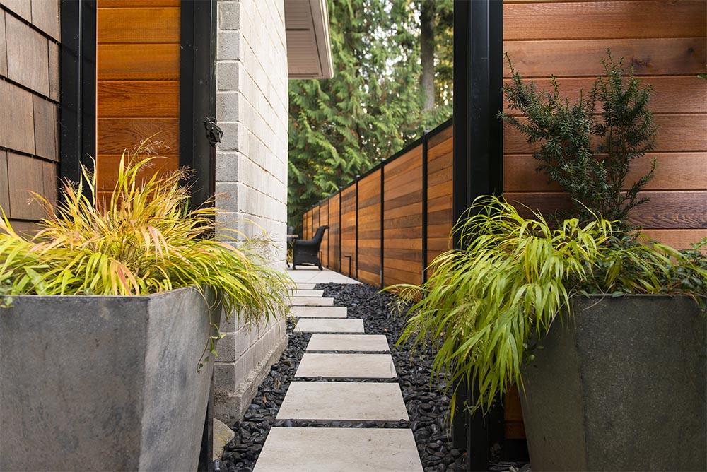Wood Metal Fence Gate Open