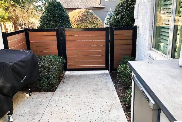 4' Tall Metal Frame Gate Kit on Walkway