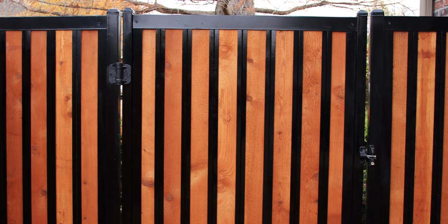 Wood and Metal Gate Wrought Iron Look