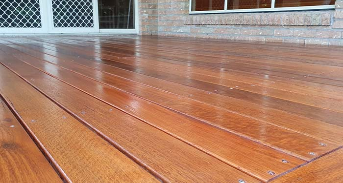 Freshly Applied Deck Stain