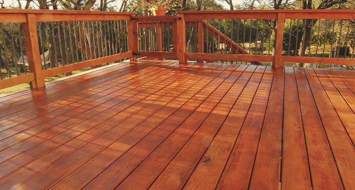 Stained Deck & Rails