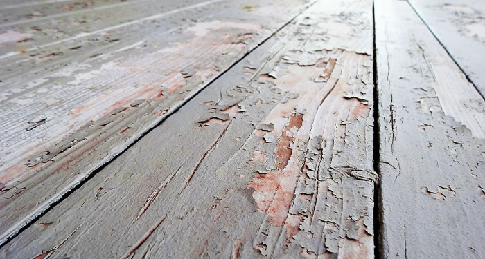 Paint Peeling From Deck