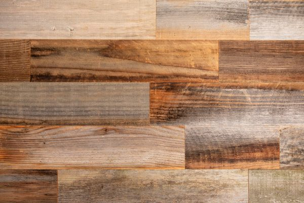 Rewoodd Naturally Preserved Peel & Stick Reclaimed Redwood Wall Planks