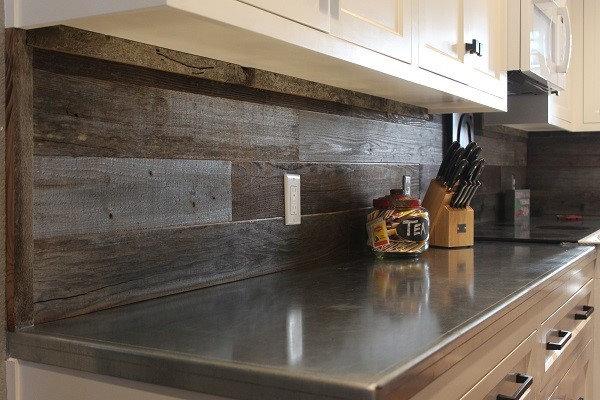 Rewoodd Reclaimed Wood Wall Planks Kitchen Backsplash