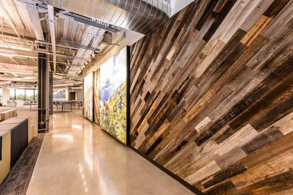 Rewoodd Reclaimed Wood Wall Planks Diagonal