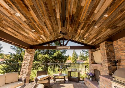 Rewoodd Reclaimed Redwood Planks Pavilion