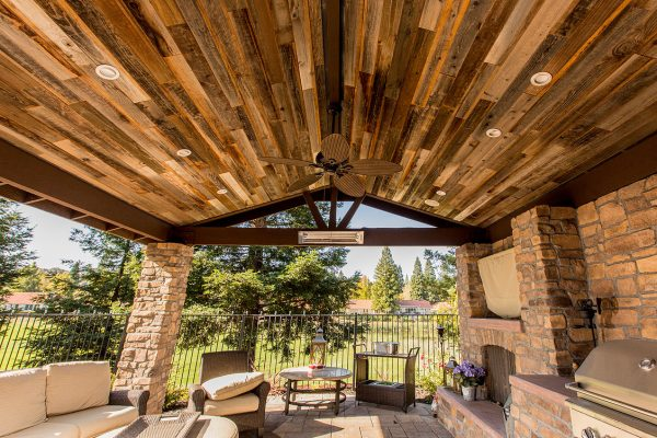 Rewoodd Reclaimed Redwood Planks Pavilion