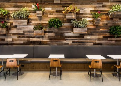Reclaimed Wood Wall & Tables