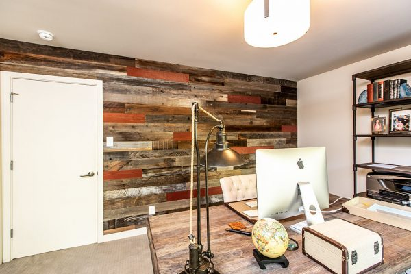 Rewoodd Reclaimed Wood Horizontal Studio Wall Planks