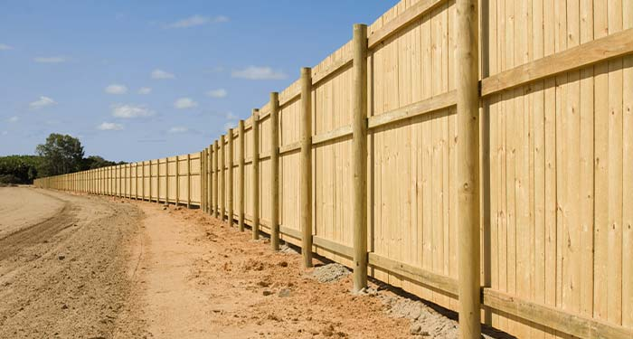 Neighborhood Wooden Privacy Fence